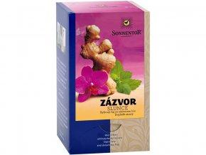 Bio Zázvor - slunce čaj bylinný porc. dárkový 20g (20sáčků)