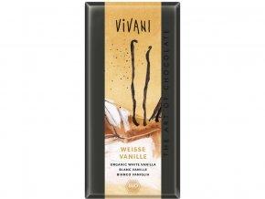 49311 bio bila cokolada s vanilkou 80g