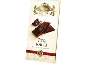 Hořká čokoláda 70% - obdélník 80g