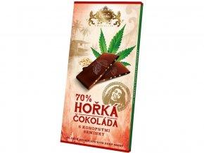 51642 horka cokolada s konopnym seminkem 80g