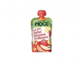 51990 bio ovocne pyre moothie jablko banan jahoda bez cukru 100g