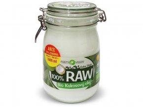 52722 bio 100 raw kokosovy olej ve skle 900ml 100ml