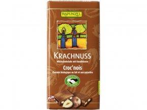 Bio fair trade mléčna čokoláda s lískovými oříšky 100g