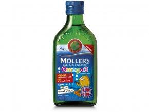 53961 moller s omega 3 rybi olej ovocna prichut 250 ml
