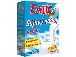 Sójový nápoj Zajíc Plus 350g vit.+vápník+lecitin