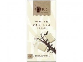 Bio bílá čokoláda s vanilkou iChoc 80 g