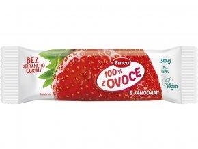 Tyčinka 100% ovoce jahoda 30g