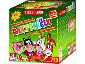 Terezia company Rakytníček Multivitaminové želatinky s rakytníkem 70 kusů
