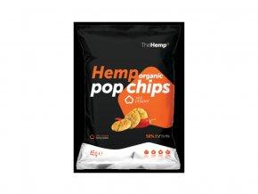 66087 bio organicke konopne pop chips red pepper 45g