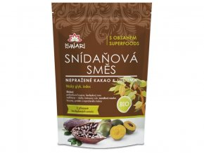 Bio snídaňová směs nepražené kakao & lucuma 360g