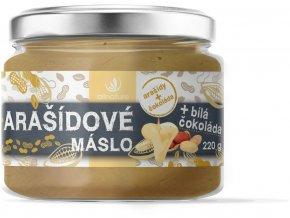 67062 arasidove maslo s bilou cokoladou 220g