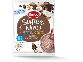 Super nápoj Čokoláda & Kokosové mléko 45g