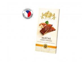 Mléčná čokoláda s drcenými oříšky v karamelu 80g