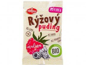 Bio Rýžový puding malinový 40g - bez lepku