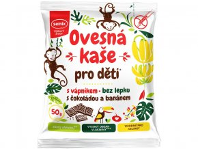Ovesná kaše pro děti s vápníkem s čokoládou a banánem 50g