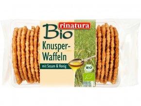 Bio Celozrnné křupavé vafle sezam a med 150g