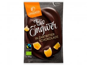 Bio Zázvor v hořké čokoládě 70g