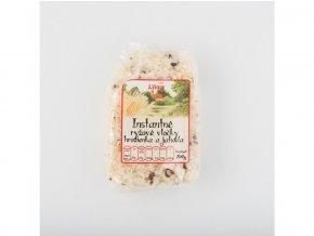 Instantní rýžové vločky s hrozinkami a jahodami 250g
