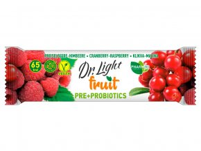 Tyčinka ovocná  Dr.Light fruit Klikva-Malina PRE + PROBIOTIKA 30g