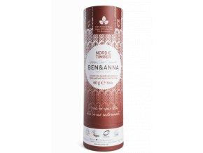 Ben & Anna Tuhý deodorant BIO (60 g) - Severské dřevo - vůně vhodná pro muže