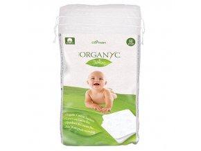 Organyc Dětské čisticí vatové čtverce (60 ks) - 100% z biobavlny