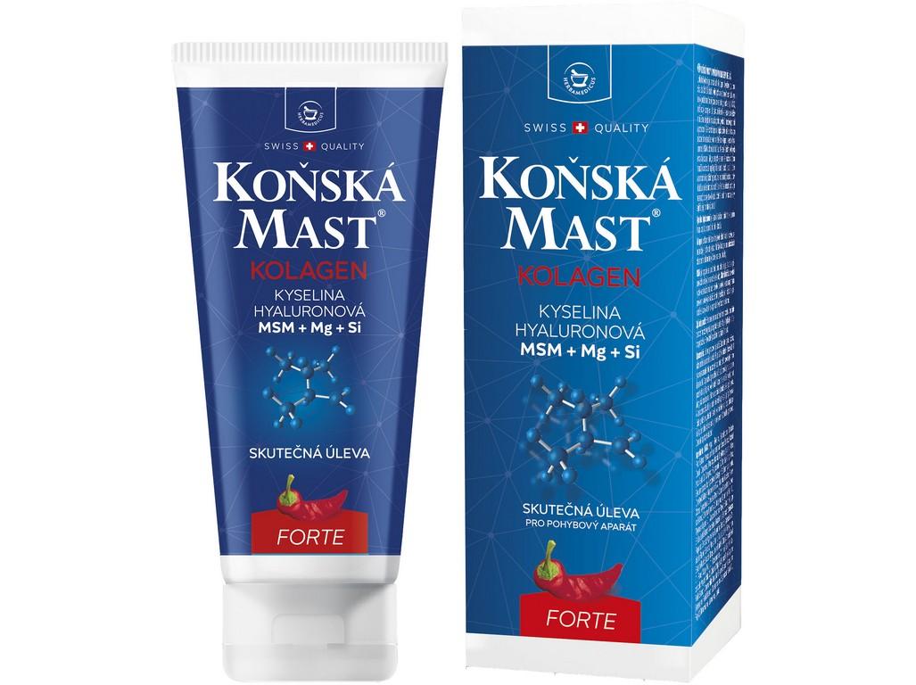 Herbamedicus Koňská mast s kolagenem forte hřejivá 200 ml
