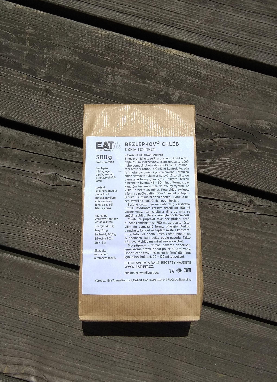 EAT-FIT SMĚS NA CHLÉB S CHIA SEMÍNKEM BEZLEPKOVÝ 500g EATfit