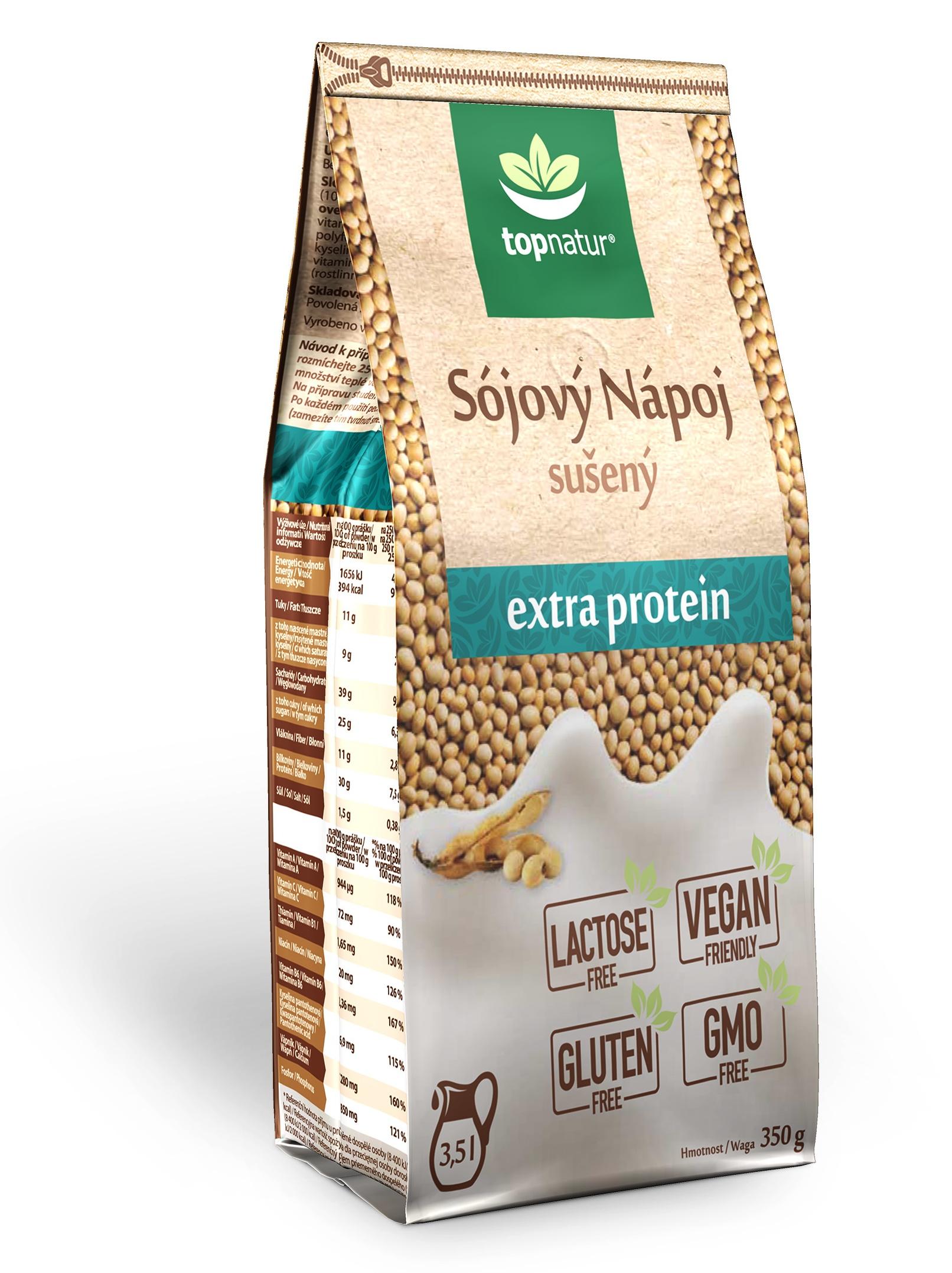 Sojový nápoj extra protein TOPNATUR 350g topnatur