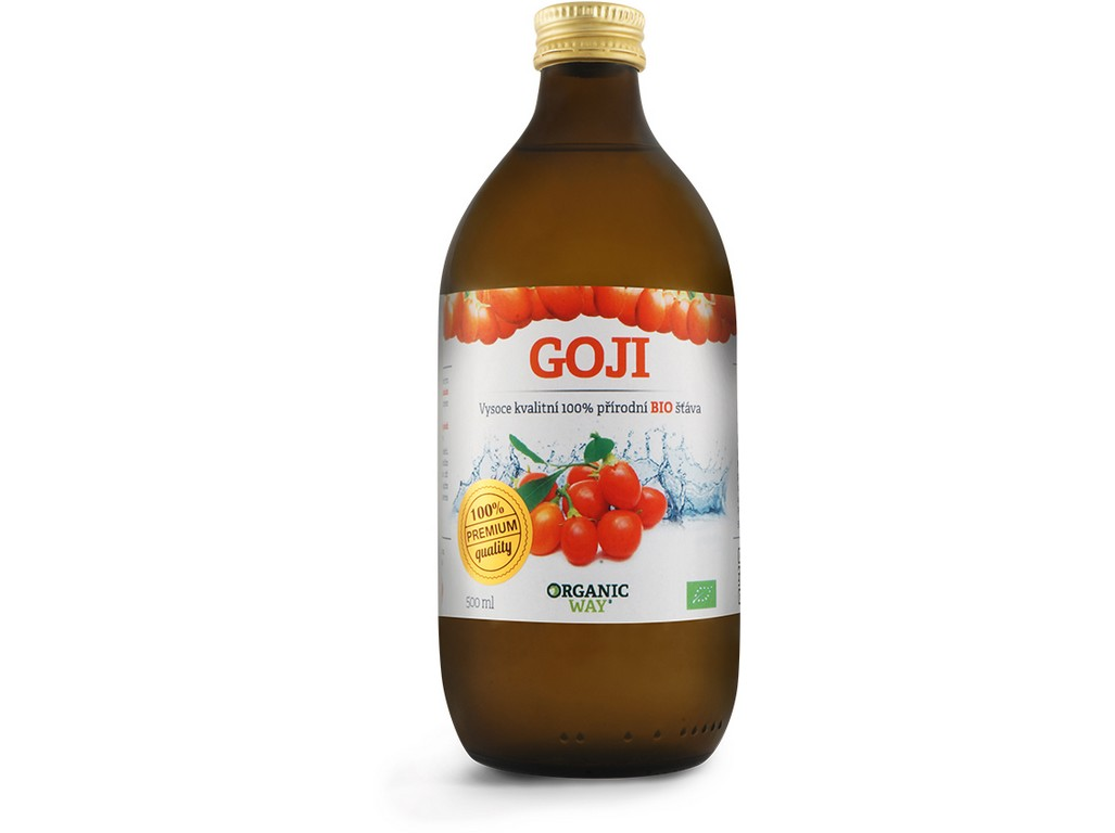 Organic way Bio Goji 100% šťáva premium quality 500ml