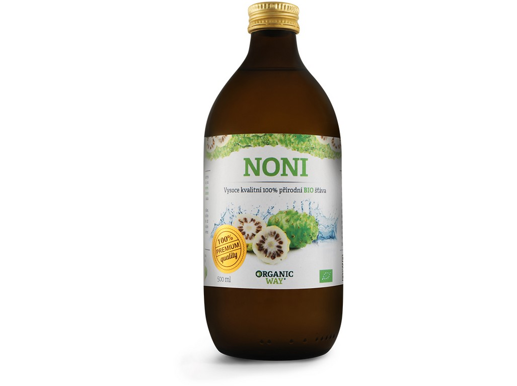 Organic way Bio Noni 100% šťáva premium quality 500ml