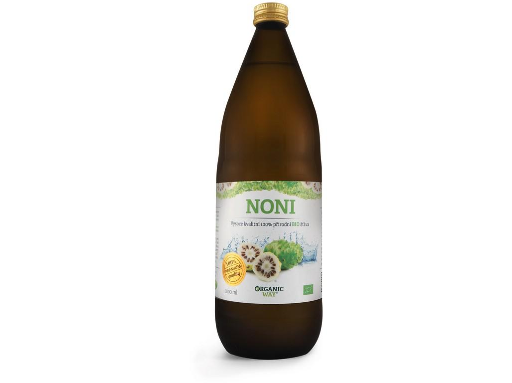 Organic way Bio Noni 100% šťáva premium quality 1000ml