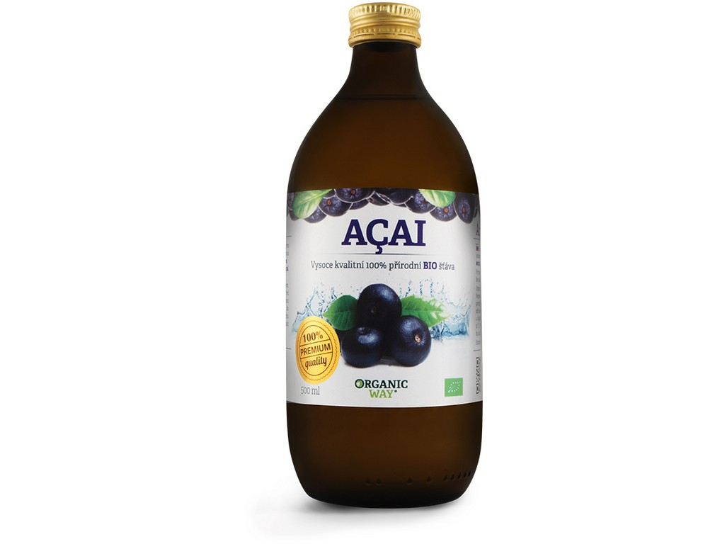 Organic way Bio Acai 100% šťáva premium quality 500ml