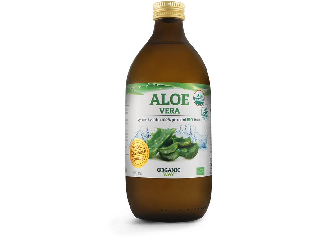 Organic way Bio Aloe vera 99,7% šťáva 500ml