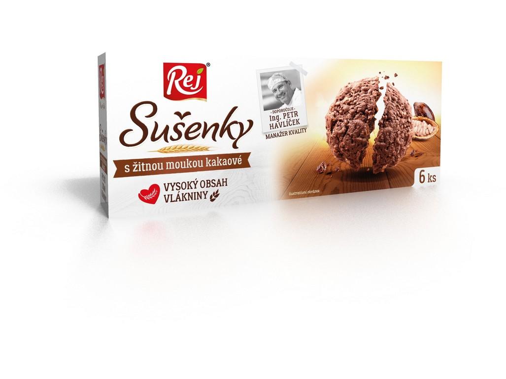 Rej Sušenky kakaové s žitnou moukou 120g