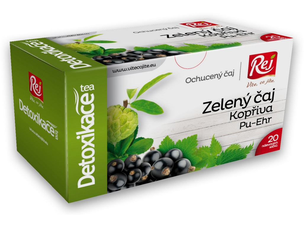Rej Čaj DETOXIKACE - zelený čaj s kopřivou a pu-erh 30g