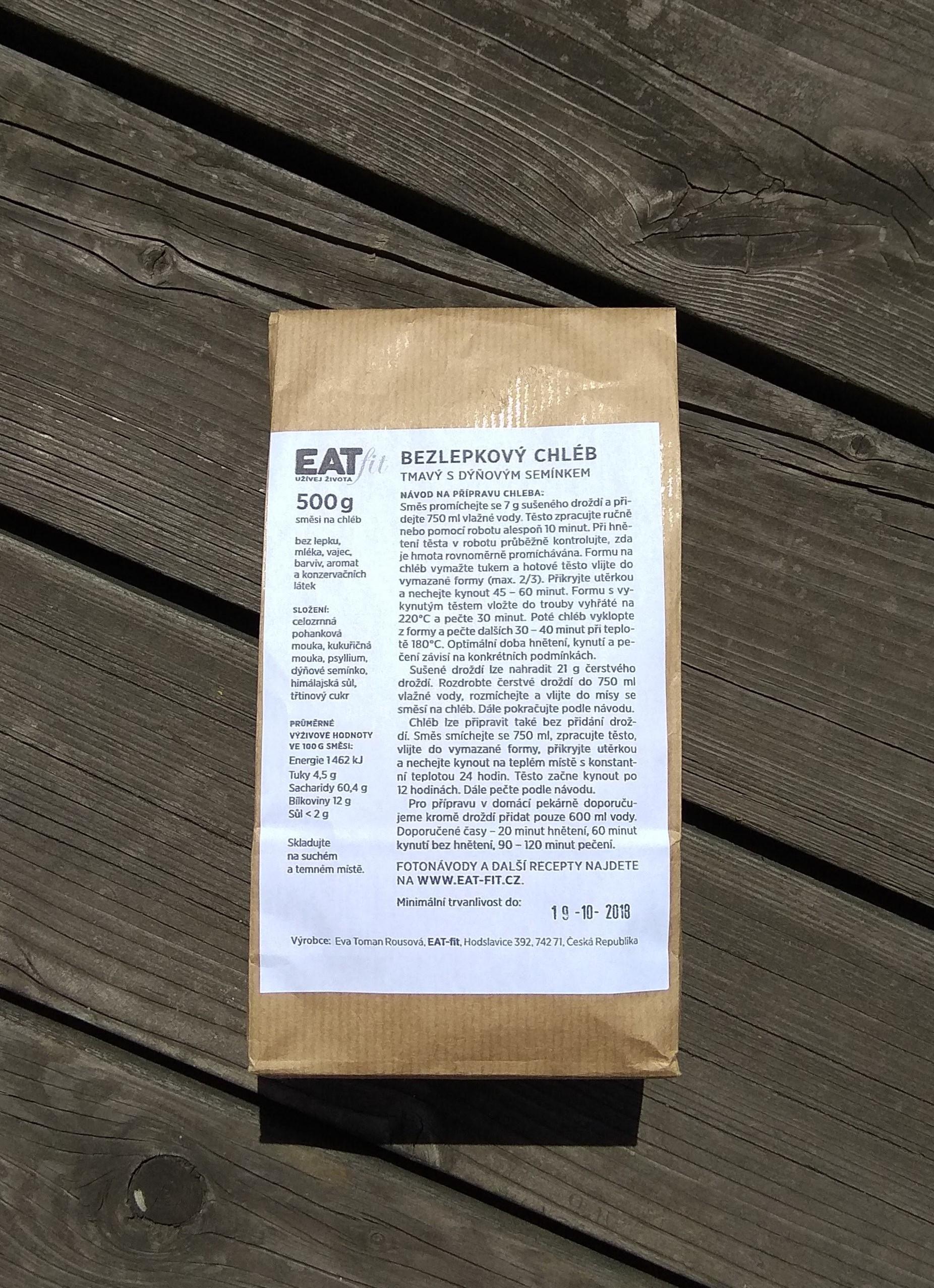 EAT-FIT SMĚS NA CHLÉB TMAVÝ S DÝŇOVÝM SEMÍNKEM 500g EATfit