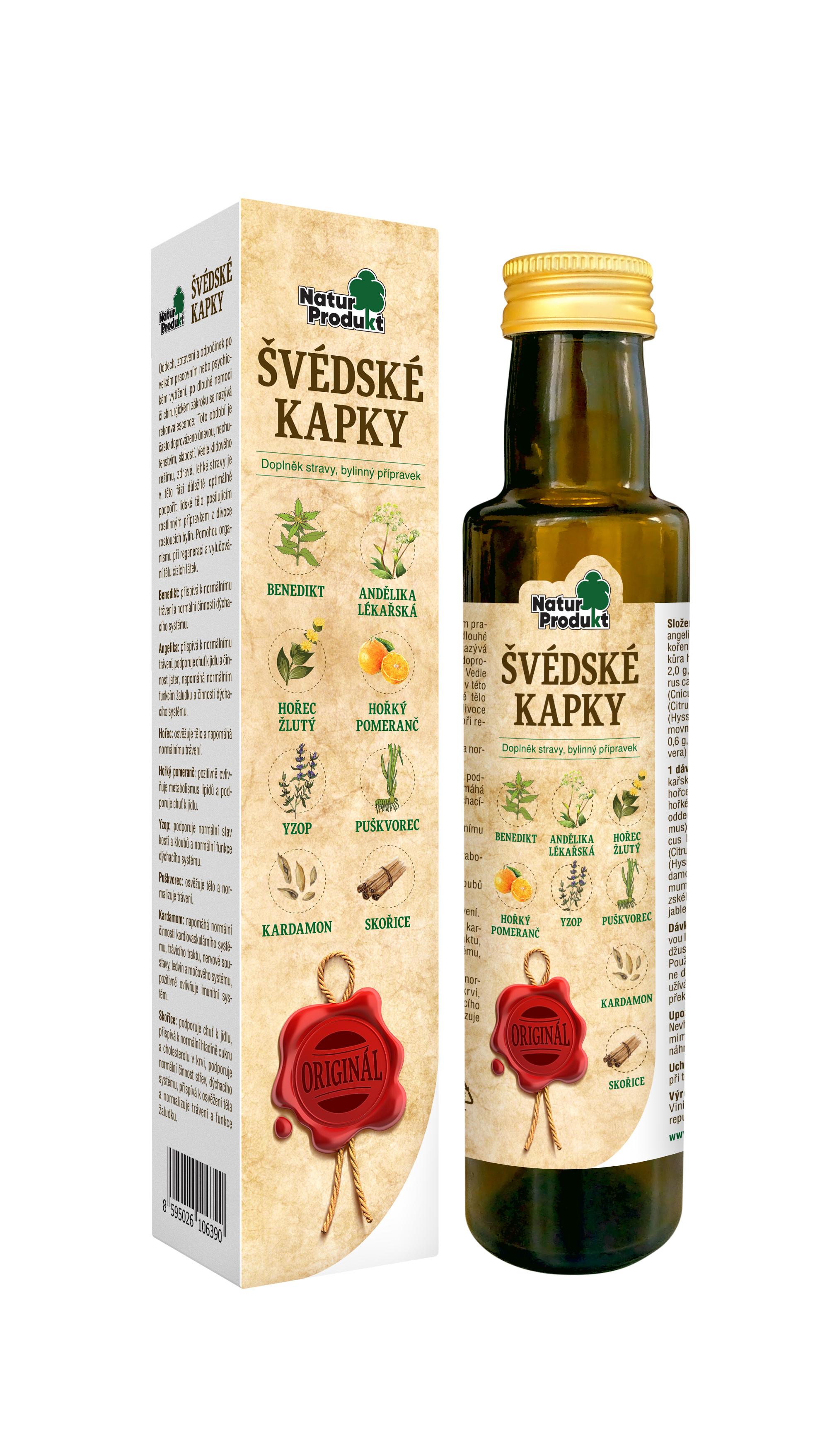 Naturprodukt Švédské kapky - 250 ml