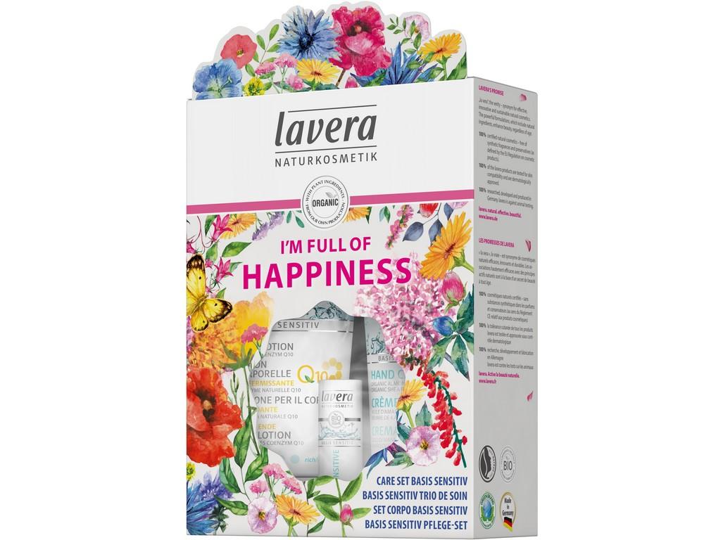 Lavera Dárkový set plný štěstí Basis Sensitiv 200+75 ml