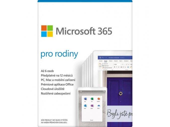 Microsoft 365 pro rodiny přední strana