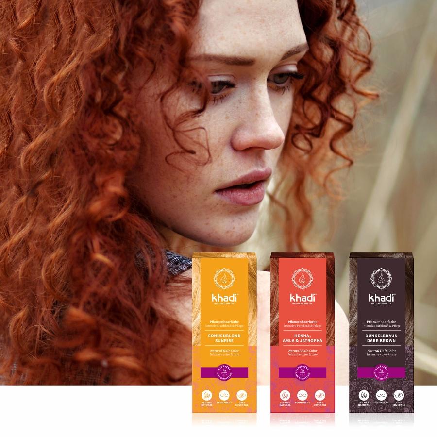 Khadi rostlinné barvy na vlasy