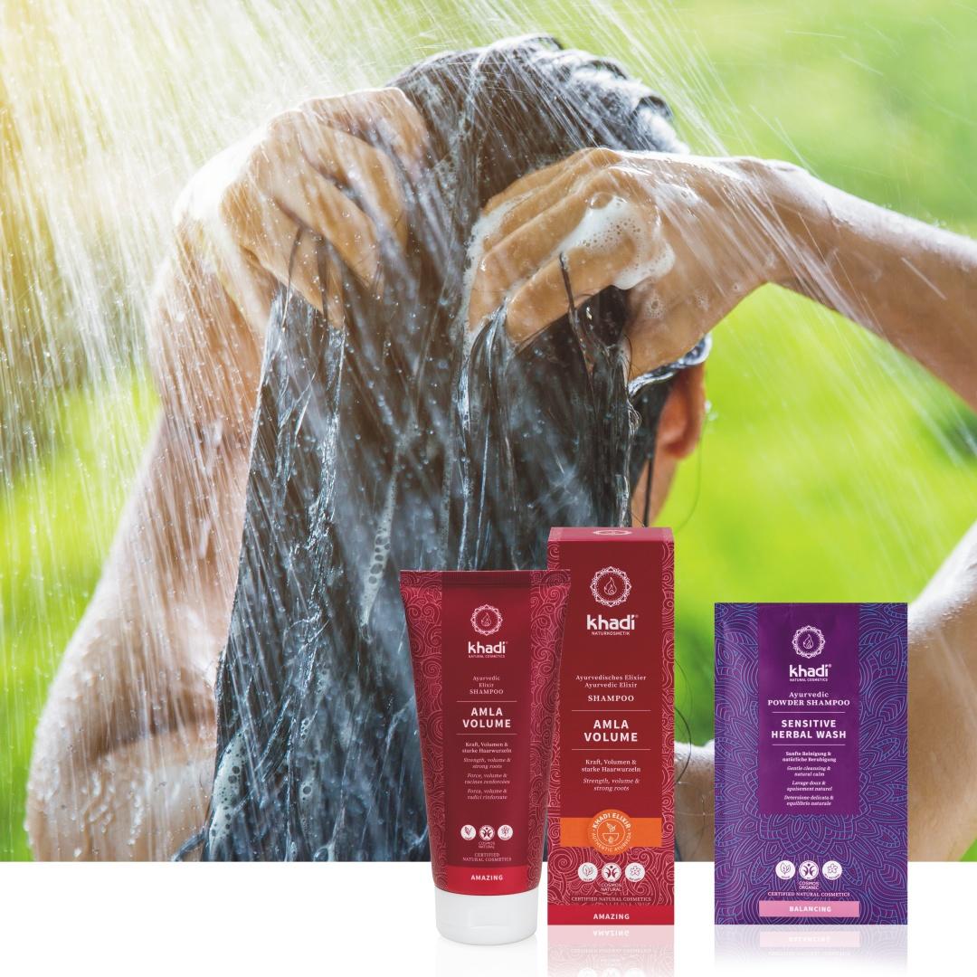 Khadi mytí vlasů