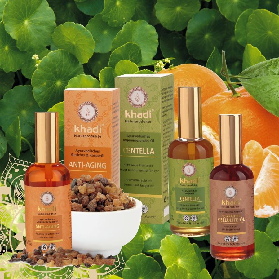 Khadi pleťové a tělové oleje - speciální péče