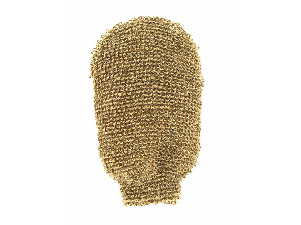 Förster´s masážní rukavice - indický len - velmi hrubá