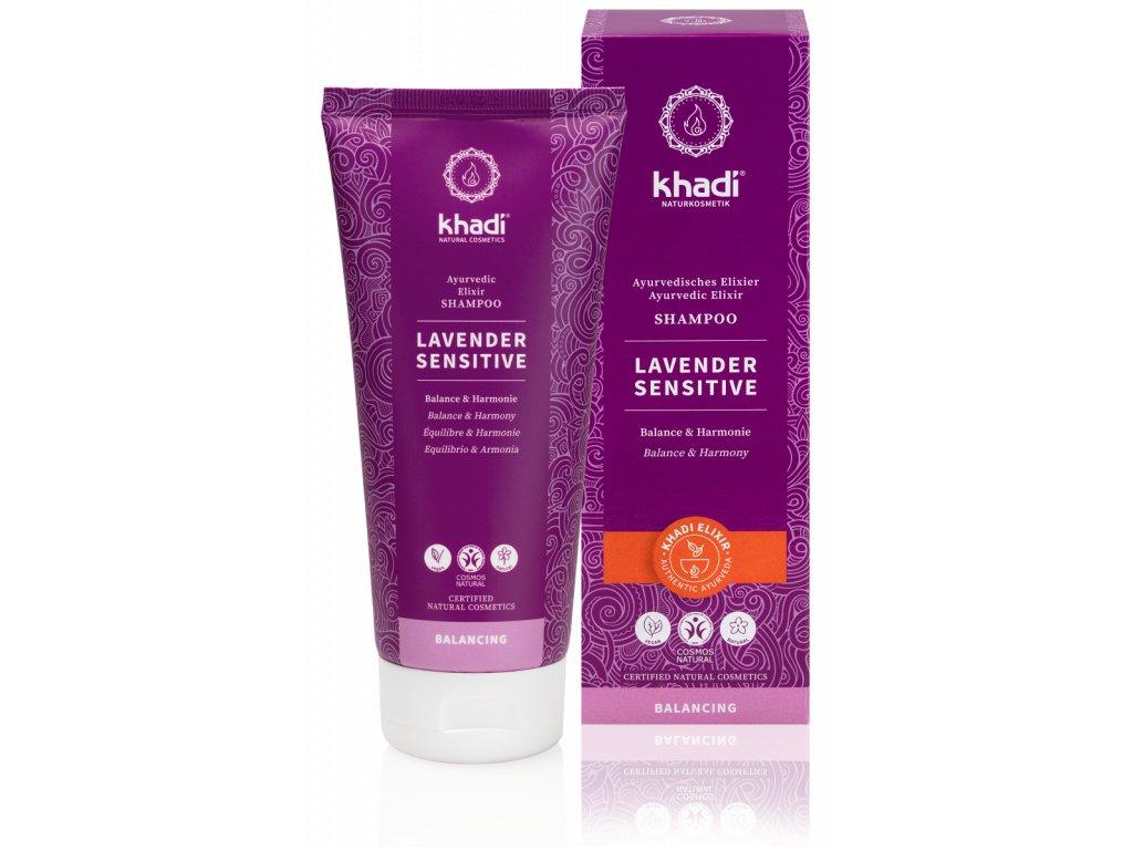 Khadi elixír šampón LEVANDULE SENSITIVE