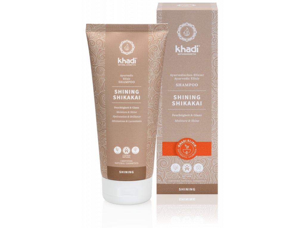 Khadi elixír šampón SHIKAKAI LESK