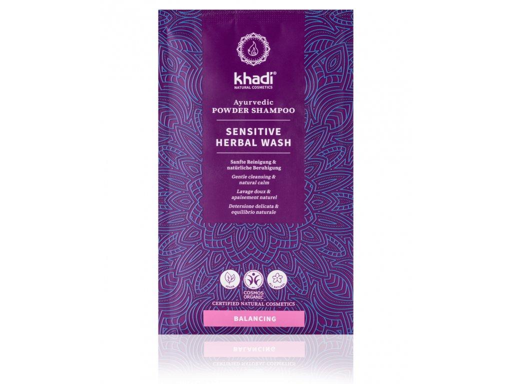 KHA prášk. šampón Mytí rostlinami Sensitive web