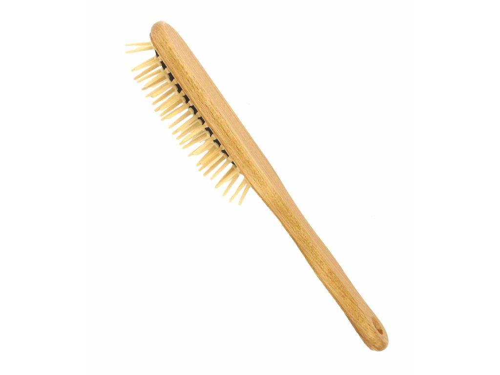 Förster´s vlasový kartáč z FSC certif. bukového dřeva - se špičatými dřevěnými ostny - oválný