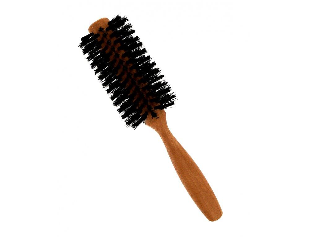 Förster´s vlasový kartáč z hruškového dřeva - s kančími štětinami - půlkulatý, prům. 5 cm