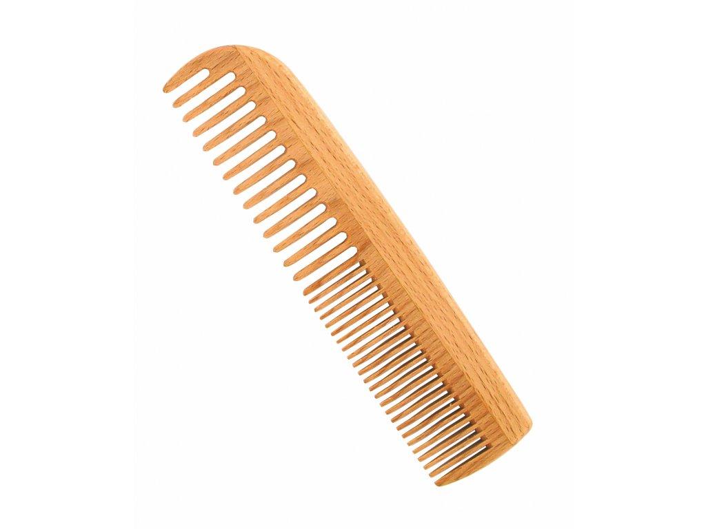 Förster´s vlasový hřeben z FSC certif. bukového dřeva - s dvojí hustotou zubů