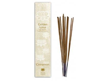 Vonné tyčinky Golden Lotus - Skořice